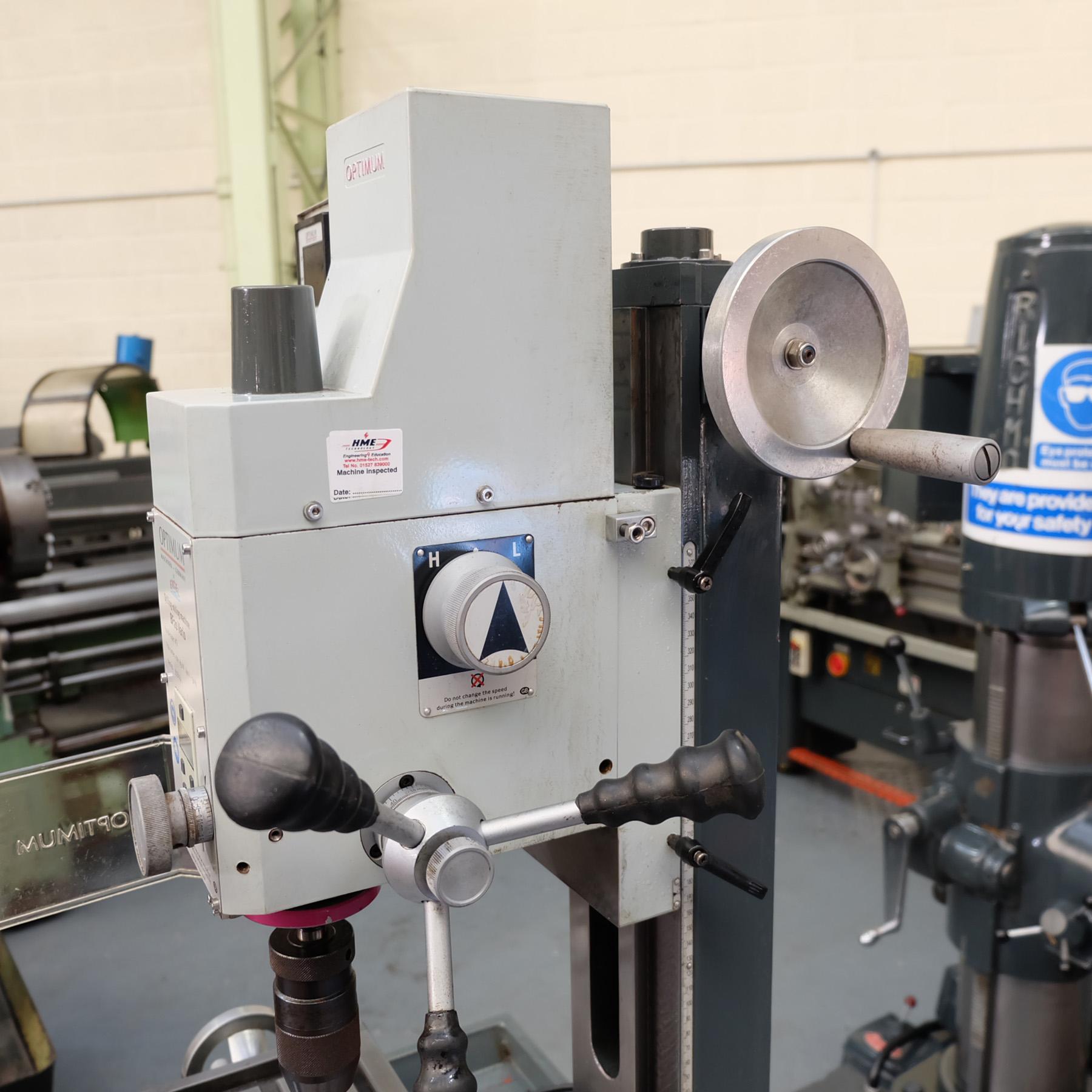 Optimum BF20 Vario Drilling/Milling Machine. - Image 6 of 11