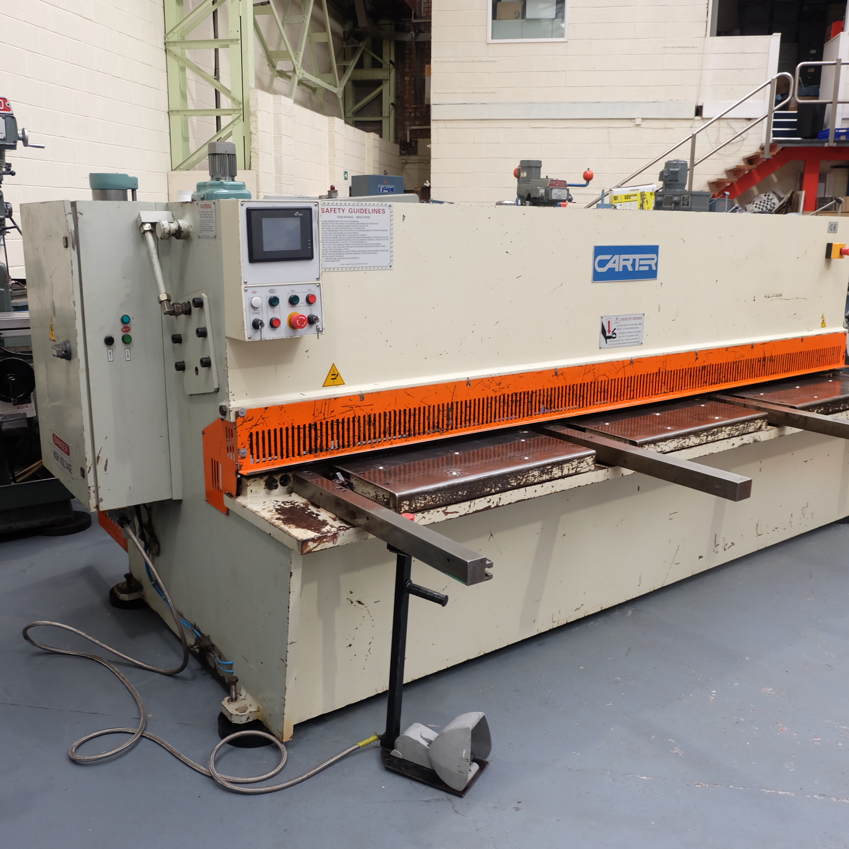 Carter Model QC12K-6x3200: Hydraulic Power Guillotine. - Image 3 of 9