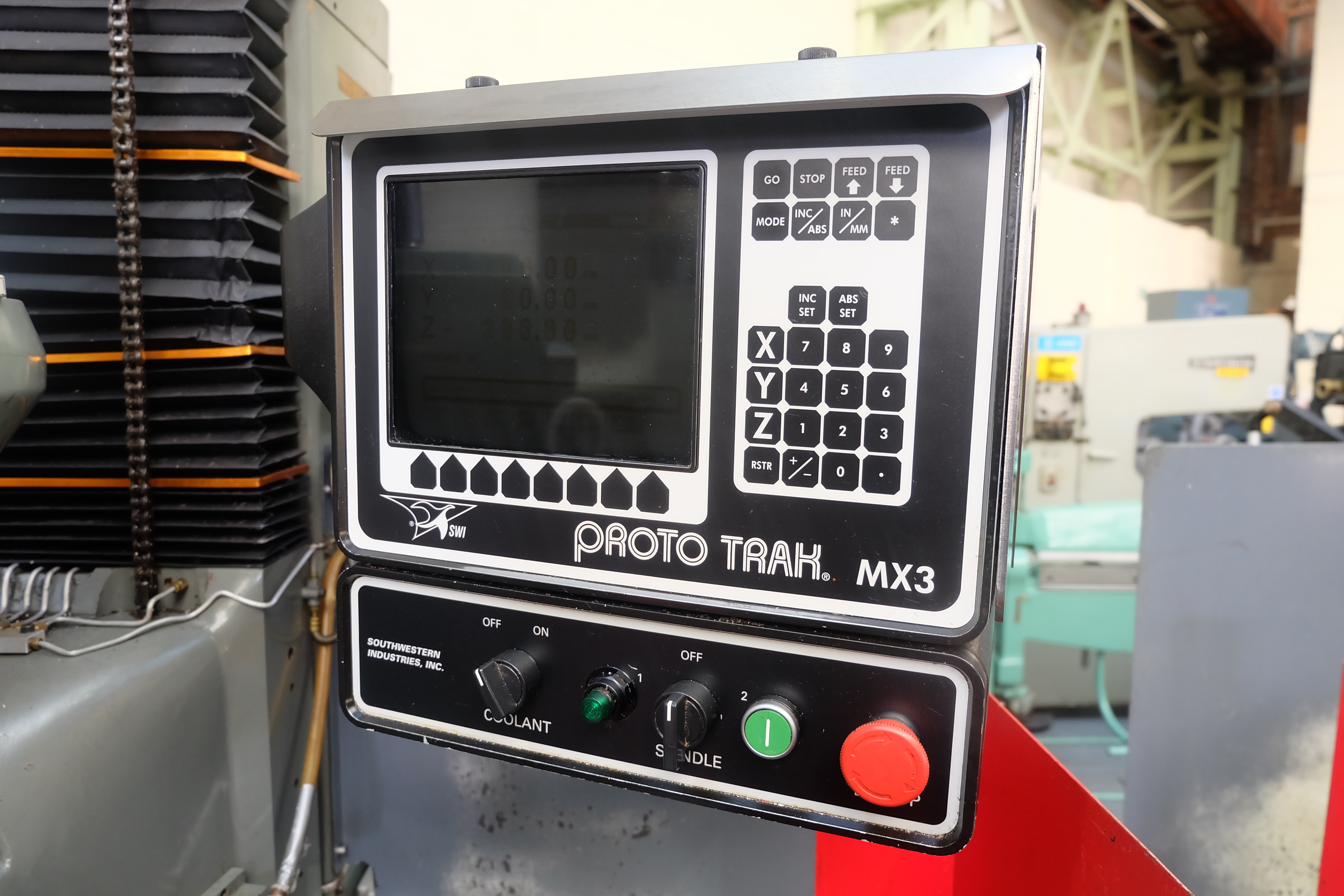 "2 x XYZ Type DPM Milling Machines Table 42"" x 12 1/2"". Prototrak MX3 Control. For Spares or Repair. - Image 6 of 21"