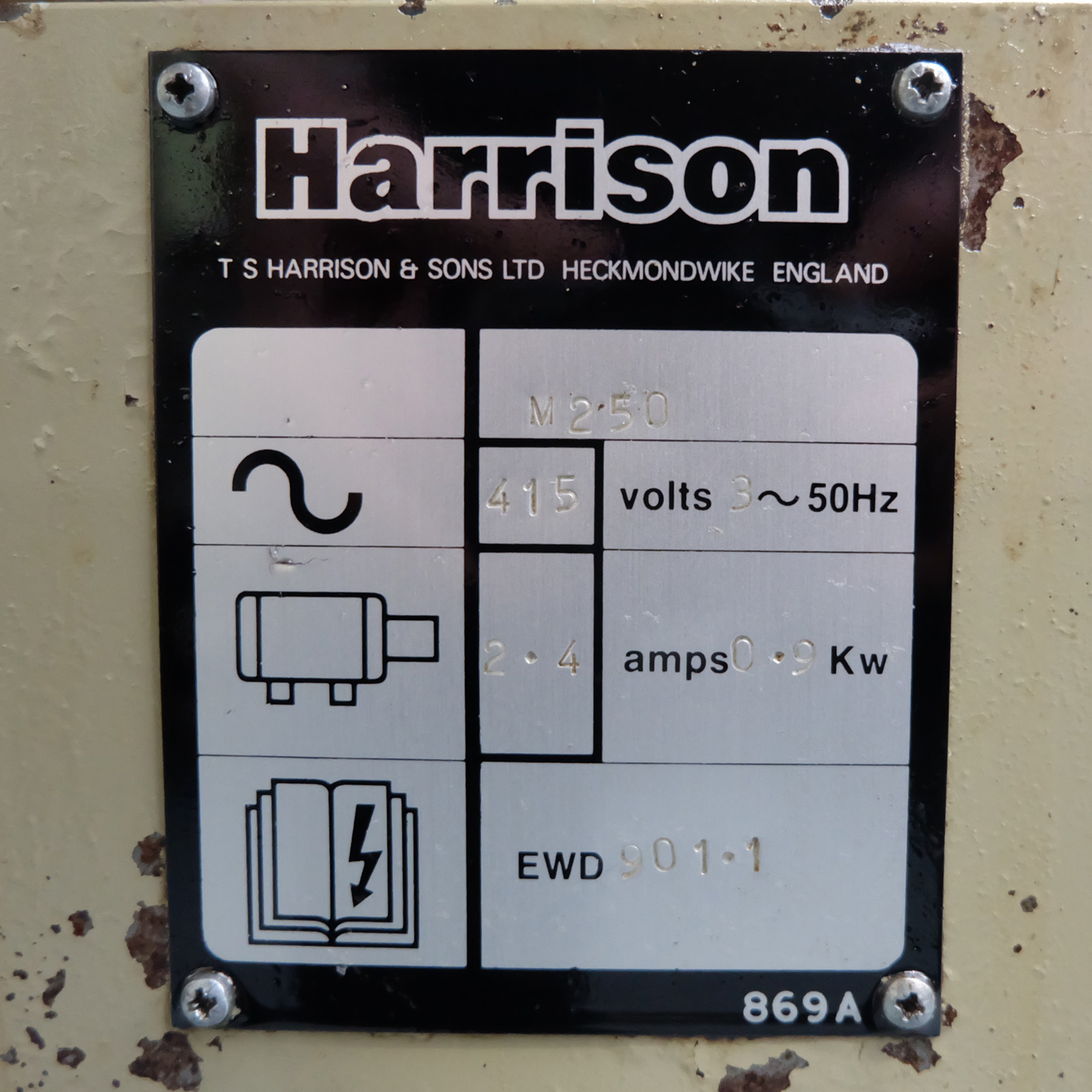 Harrison M250 Toolroom Centre Lathe. - Image 10 of 15