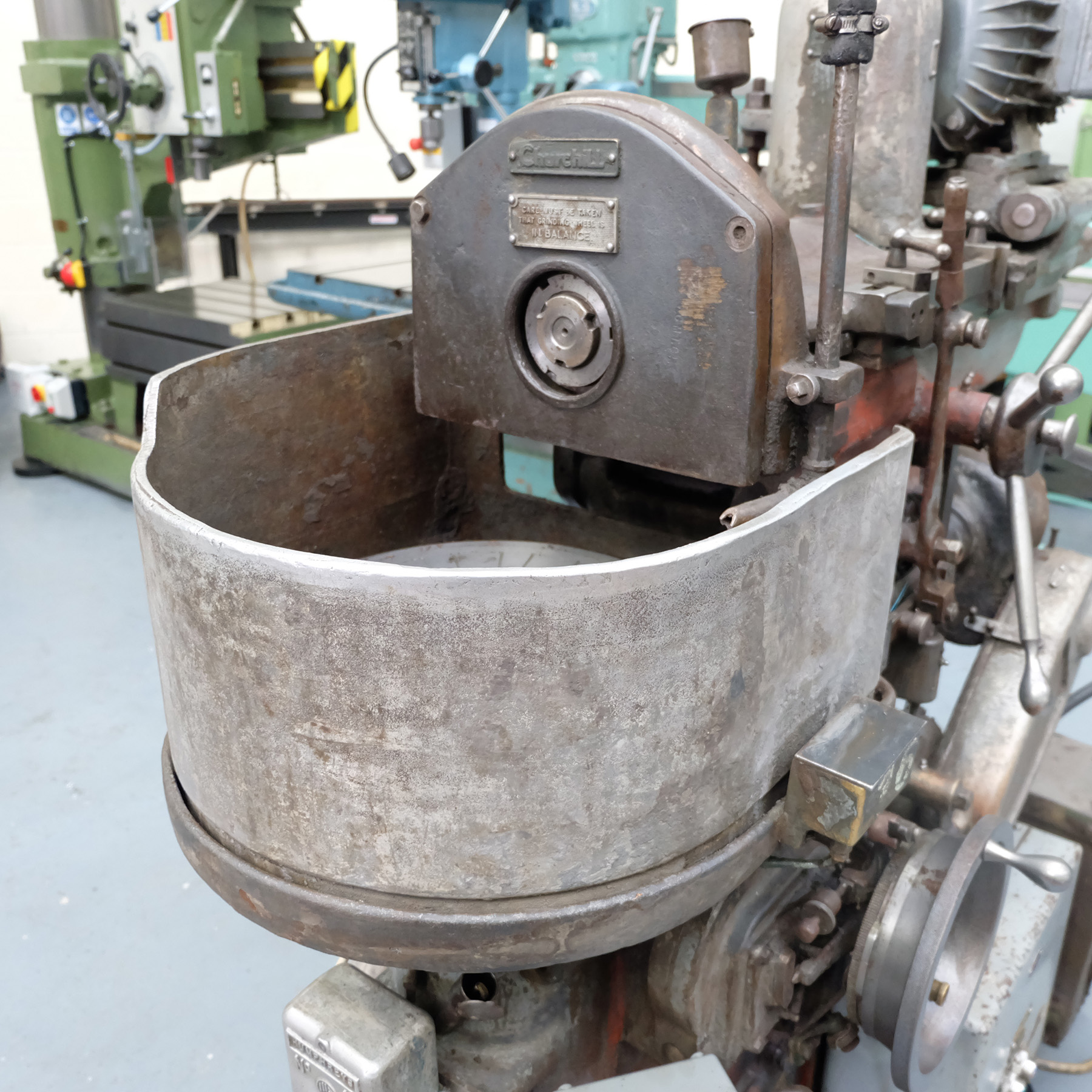 """Churchill Horizontal Spindle Tool Room Ring Grinding Machine. 12"""" Rotary Magnetic Table. - Image 5 of 5"""