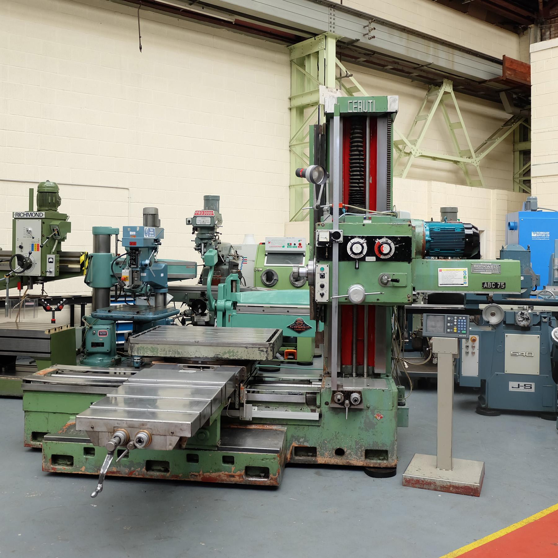 Ceruti Model ABC 75 Horizontal Boring & Milling Machine. With Tooling. - Image 2 of 15