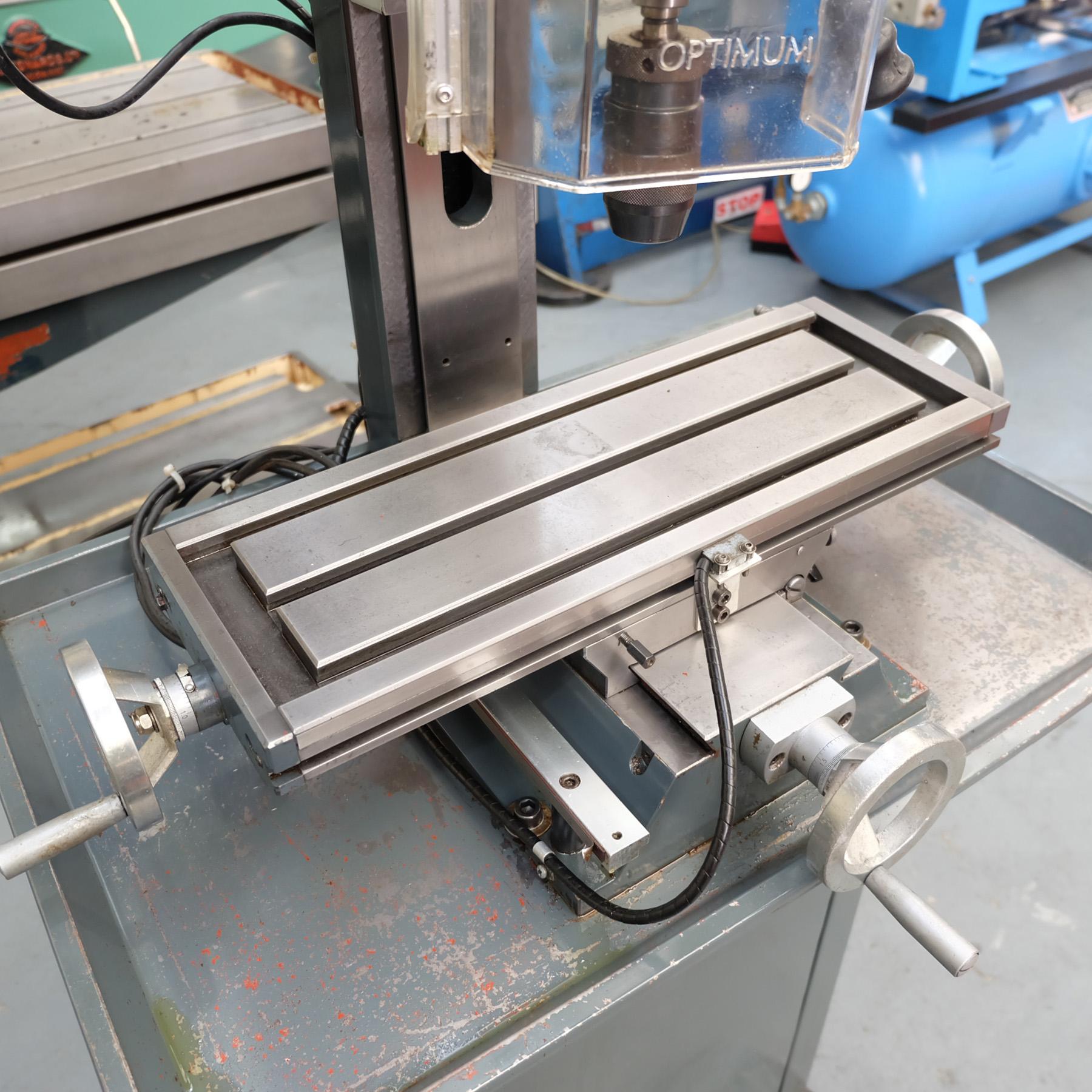 Optimum BF20 Vario Drilling/Milling Machine. - Image 8 of 11