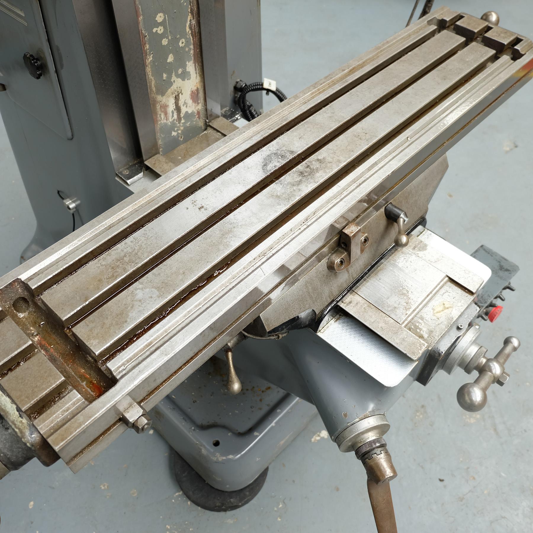 "Bridgeport J Type Turret Miller. Table Size 42"" x 9"". - Image 8 of 13"