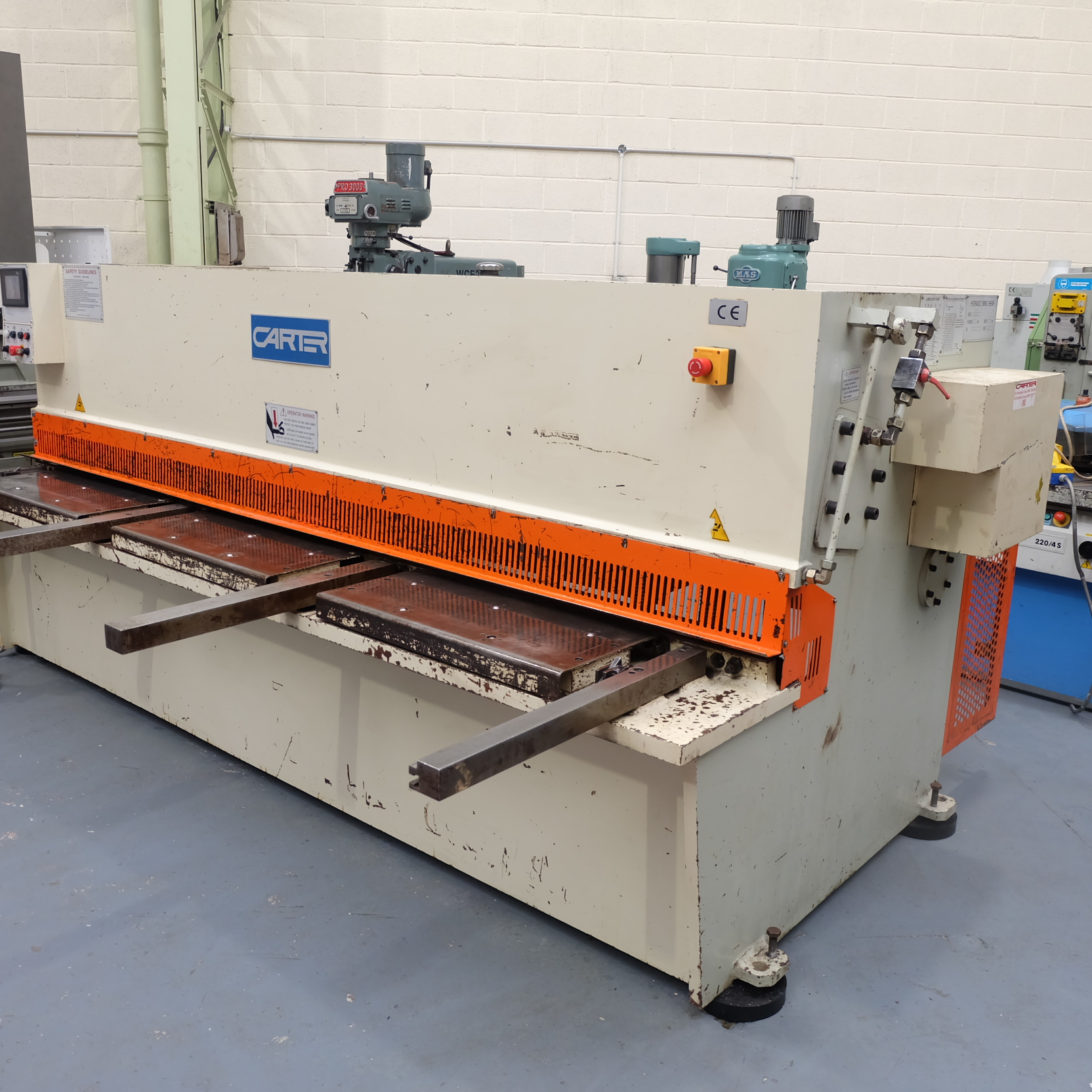 Carter Model QC12K-6x3200: Hydraulic Power Guillotine. - Image 4 of 9