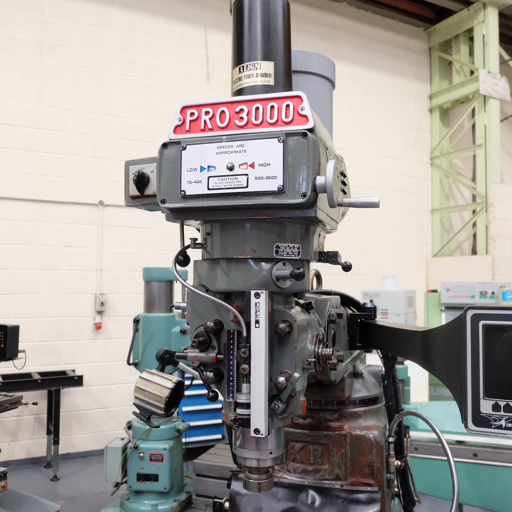 XYZ Pro3000: Turret Mill. With Prototrak MX2 Two Axis Programmable Control. - Image 3 of 10