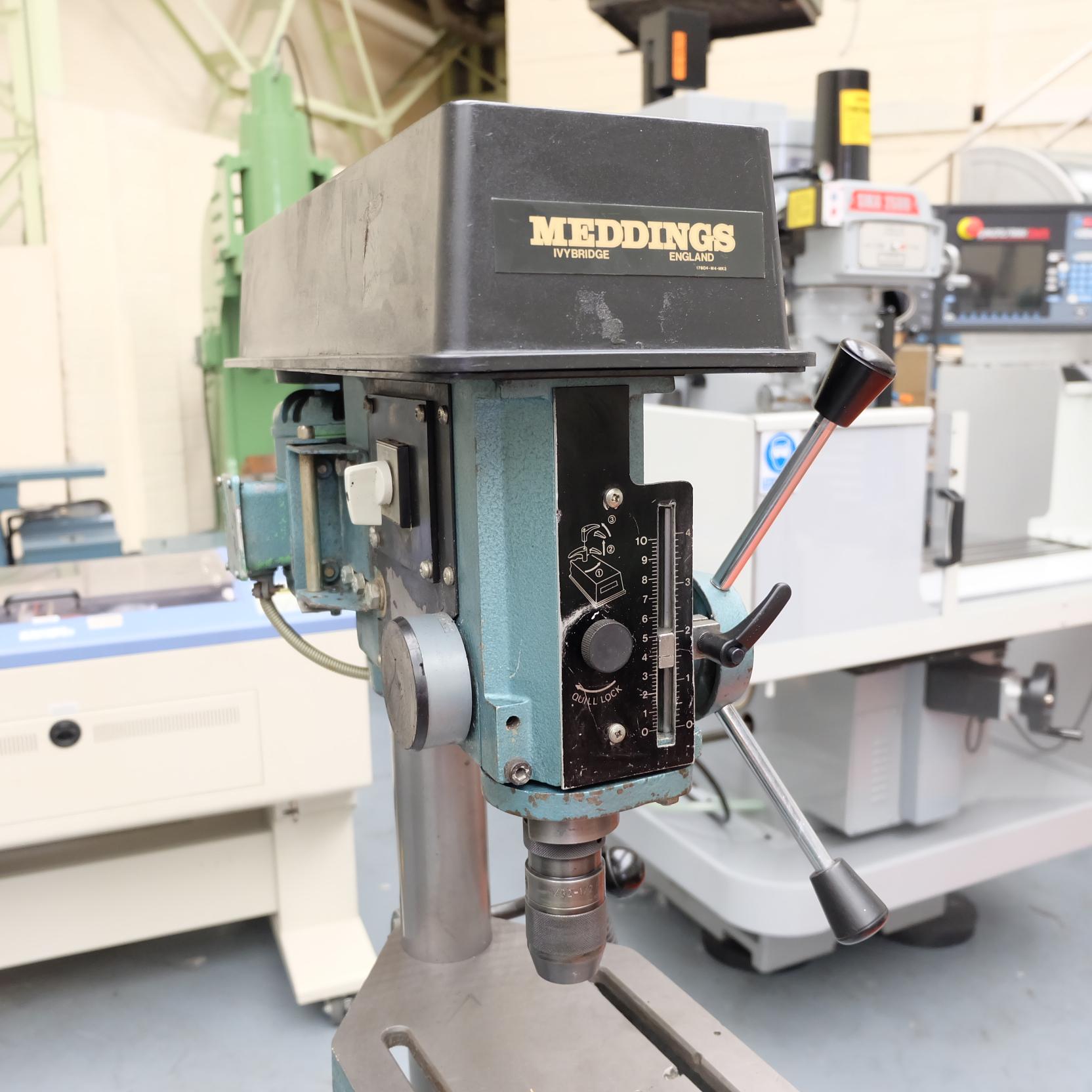 """Meddings Model DTF: Pillar Drill. Speeds 500-4000rpm.Throat 71/2"""". 1/2"""" Drill Chuck. 3 Phase. - Image 3 of 6"""