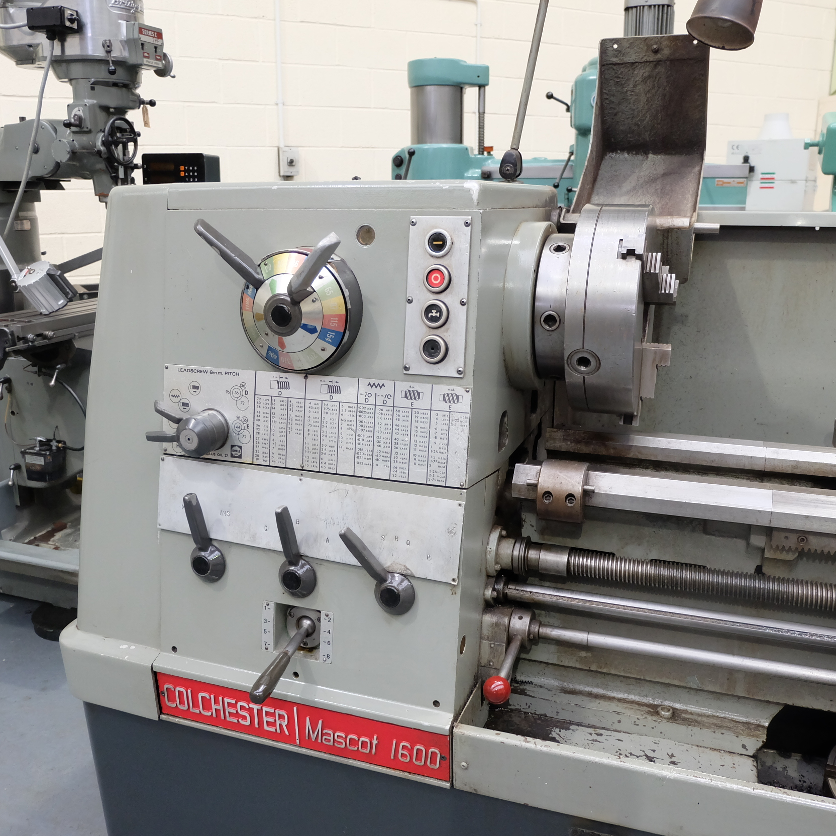 Colchester Mascot 1600 Gap Bed Centre Lathe. - Image 2 of 10