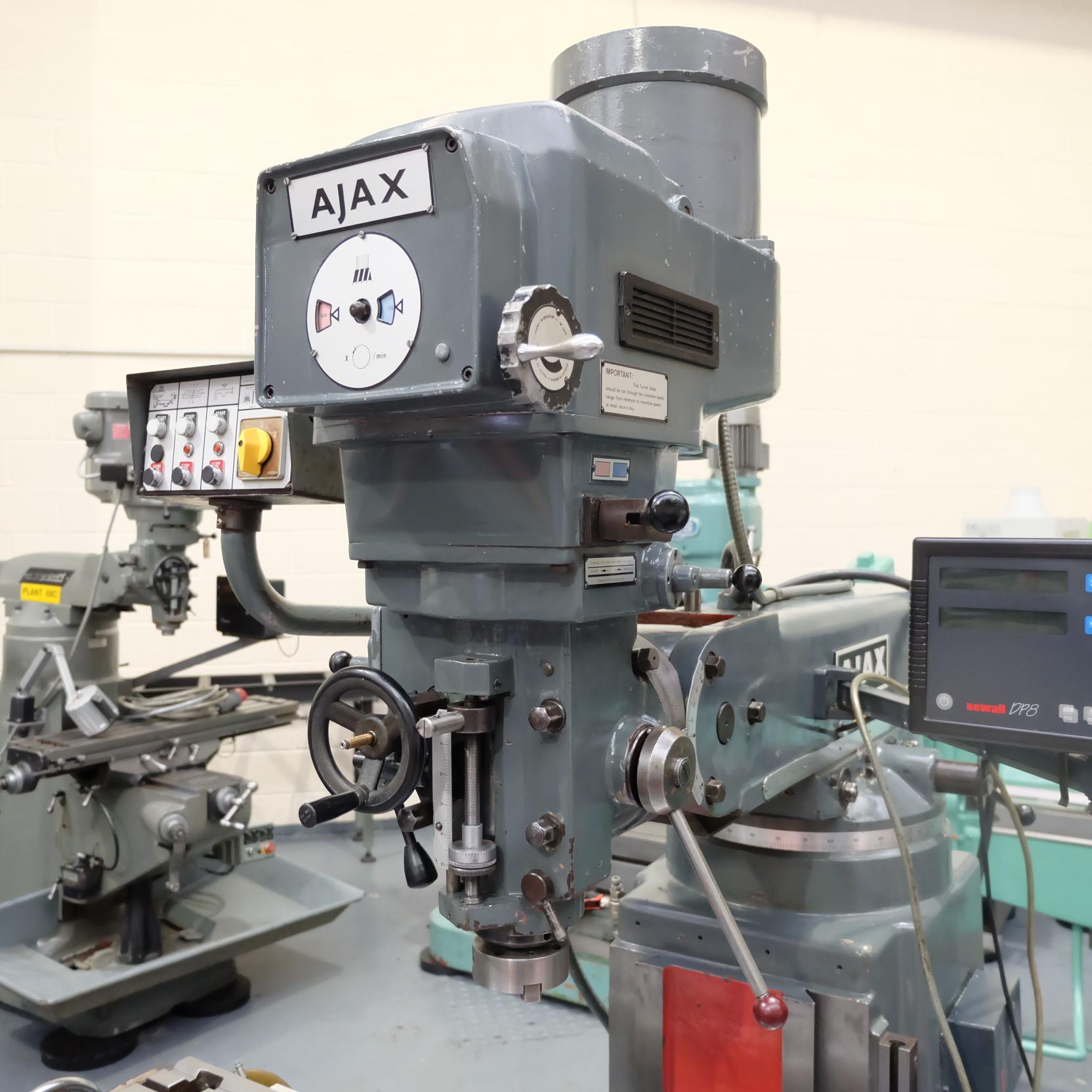 Ajax Model AJT4 Turret Milling Machine. - Image 2 of 9