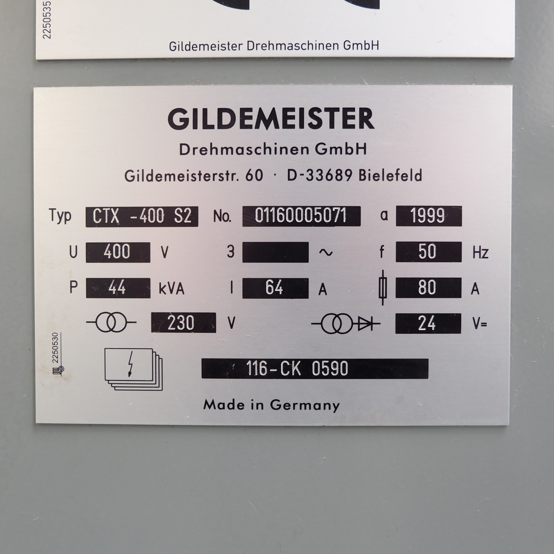 Guildermeister CTX-400 S2. CNC Turning & Milling Centre. With Heidenhain Pilot Control - Image 14 of 17