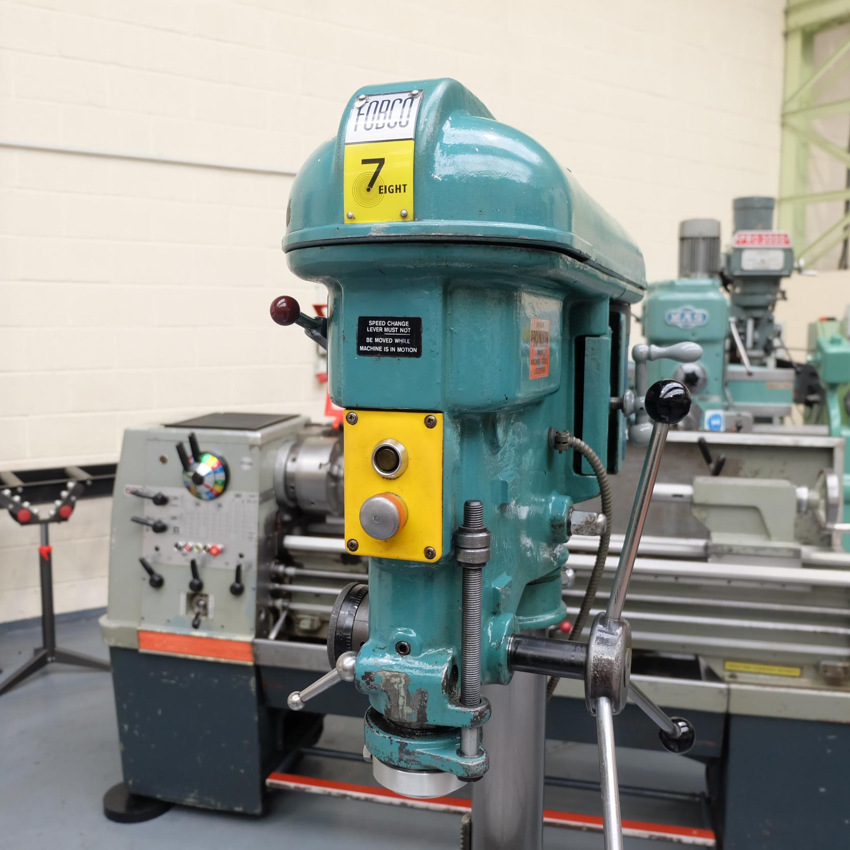 "Fobco 7 Eight: Pillar Drill. No.2 MT. Capacity 7/8"". Speeds 51-2650rpm. - Image 2 of 7"