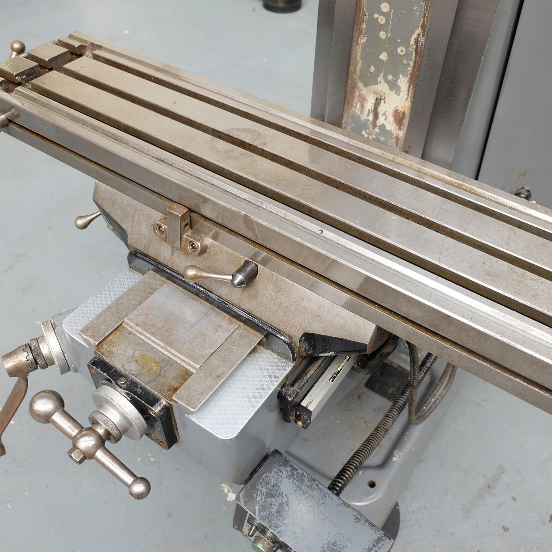 "Bridgeport J Type Turret Miller. Table Size 42"" x 9"". - Image 7 of 13"