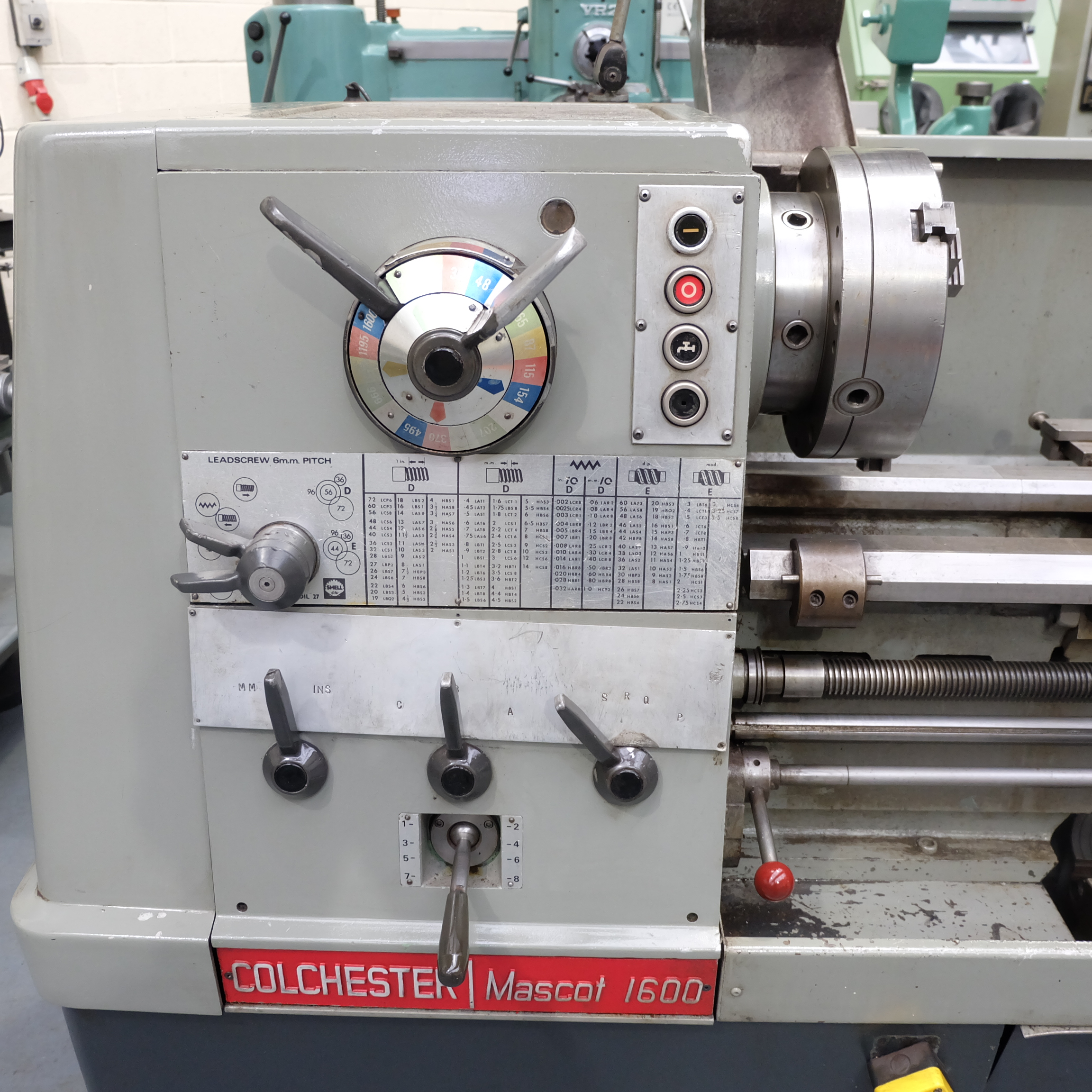 Colchester Mascot 1600 Gap Bed Centre Lathe. - Image 3 of 10