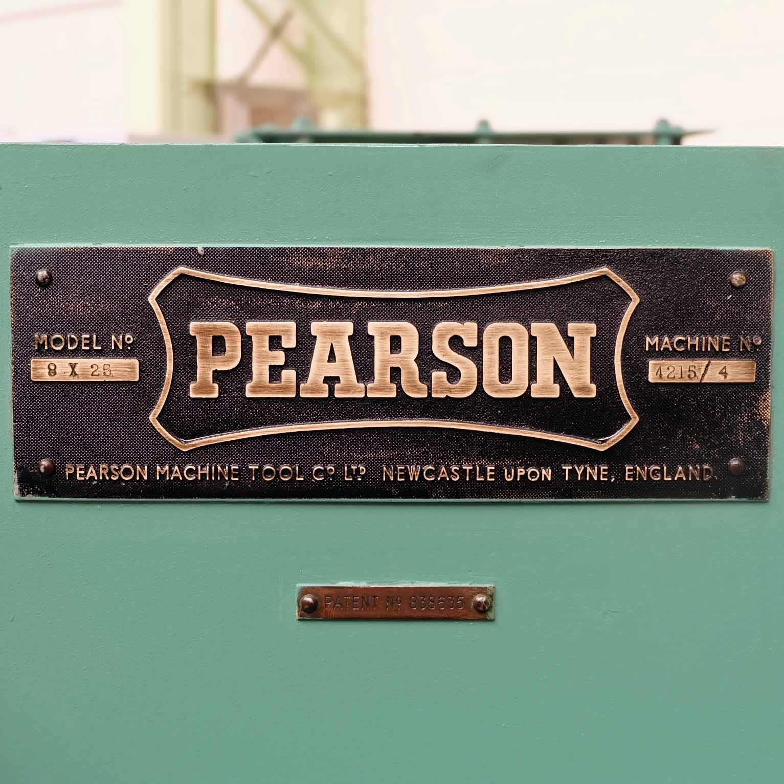 Pearson Type 8 x 25 Hydraulic Guillotine. - Image 7 of 7