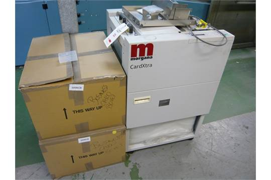 Morgana Cardxtra Auto Cutter Model Ct620exa Business Card Cutting Machine Complete With 2 Boxes