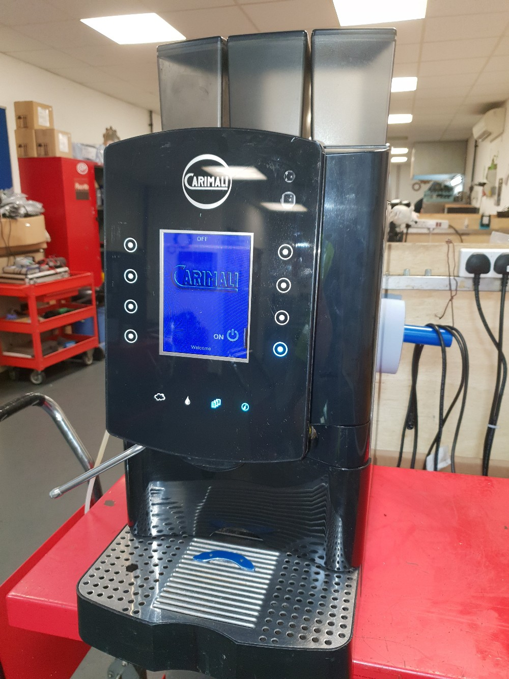Lot 12 - Carimali Solar Touch Drinks Machine – Bean to cup Coffee + Chocolate & Other DrinksThe Carimali