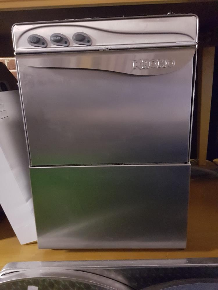 Lot 30 - Kroma Under Counter Dishwasher -W400mmxH595mmxD495mm-1ph  Clean-Two Baskets Baskets (1 Year