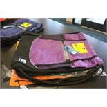 (4) ASSORTED CINCH BAGS, (2)A3 PERFORMANCE MODEL A3BCIN-500 PURPLE, (1)A3 PERFORMANCE MODEL A3BCIN-