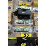 (3) SETS OF IKKOS VR GOOGLES AND BLACK BOX VIRTUAL REALITY SMARTPHONE HOLDERS