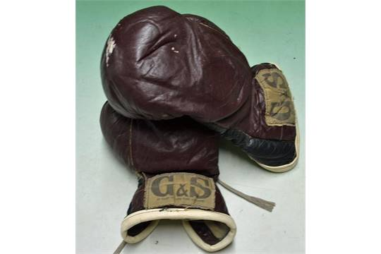 Floyd Patterson worn boxing gloves - pair of G&S Makers New