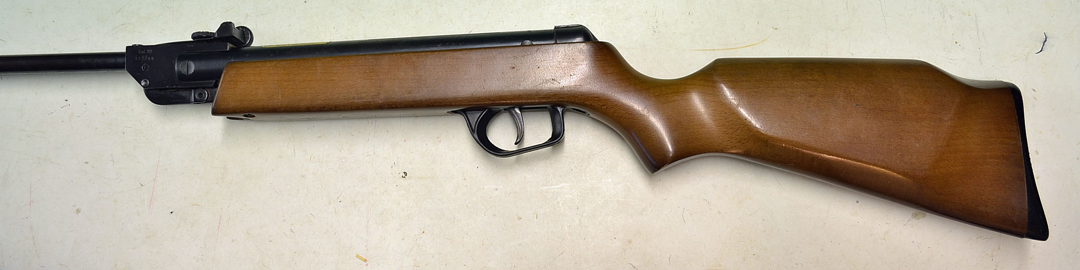 Lot 8 - ASI Sniper .22 air rifle with wooden stock model number 177749^ plastic recoil pad^ slight wear