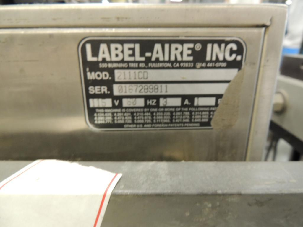Lot 39 - Label Aire Labeler, Model 3135-3500 On Roll-Away Base. S/N 0302530807
