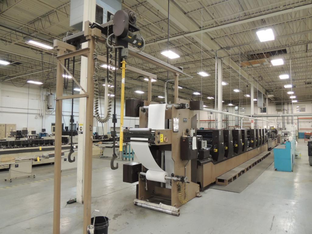 Lot 1 - LOT: Didde XL 900 Printing Press, Offset, 8-Color, 20 in. Web Width x 14 in. Cutoff, Kodak Versamark