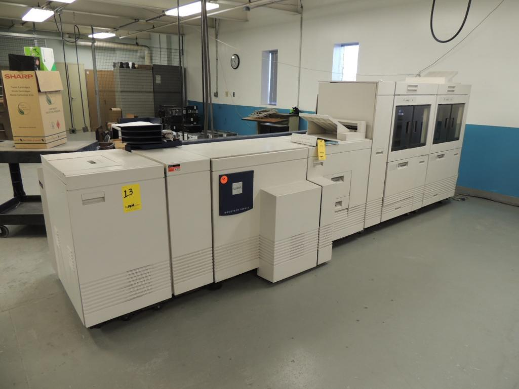 Lot 13 - Xerox Docutech 180 HLC Printer, Digital, Black And White, 4-Paper Drawers, 14 in. x 17 in. Capacity,