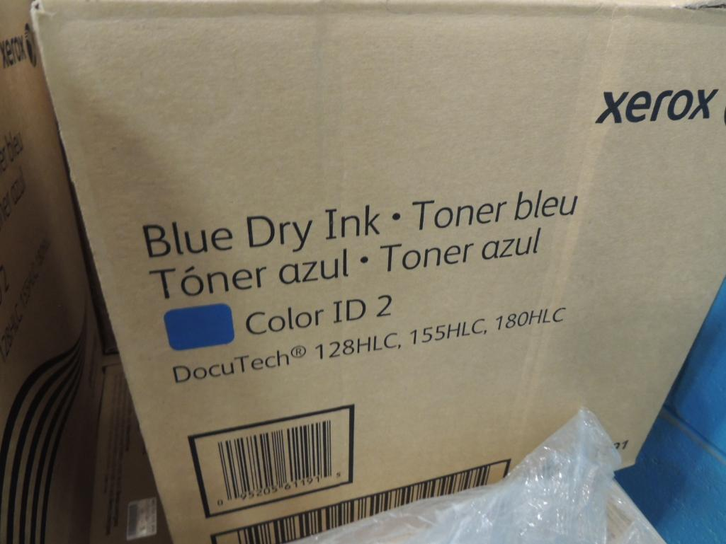 Lot 16 - LOT: Xerox Color ID 2 Cartridges, Fits Docutech 128, 155, 180 HLC Machines, (10) Cases Blue, (16) Ca