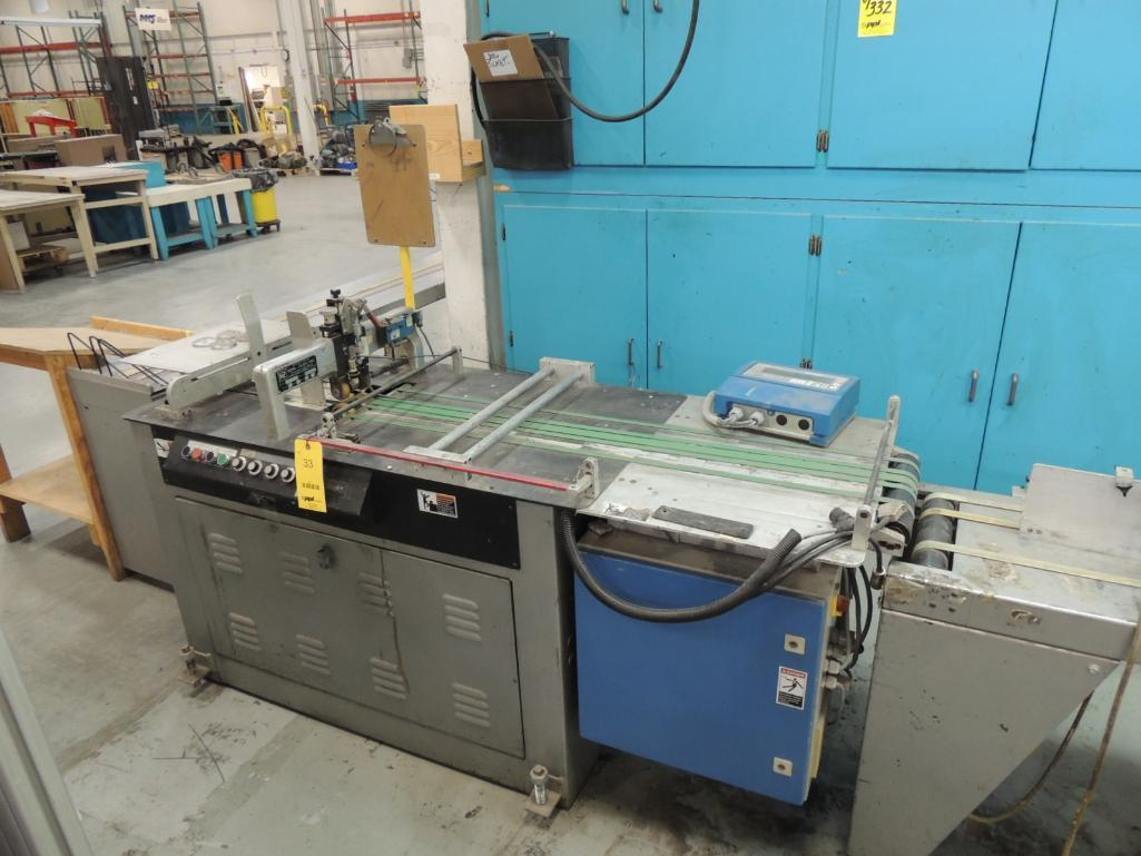 Lot 33 - Kirk Rudy Mailing system. Configured with Kirk Rudy model 215V mailing base S/N 995- 3829, Discharge