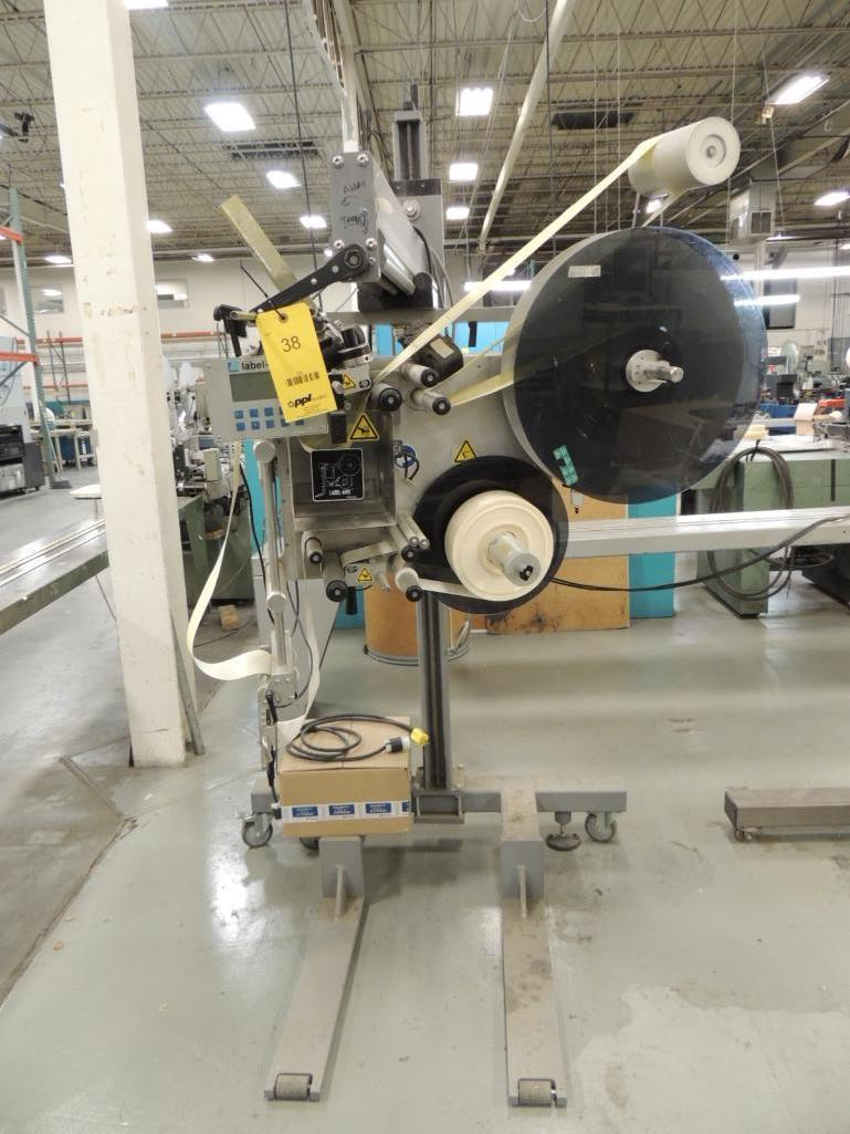Lot 38 - Label Aire Labeler, Model 2111CD on Roll-Away Base