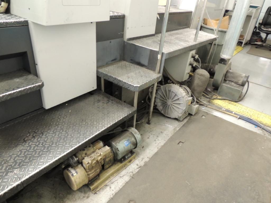Lot 4 - 1998 Shinohara 74VP 74-5P Printing Press, Offset, Sheet Fed, 5-Color, 23 in. x 29 in. Capacity, Coat