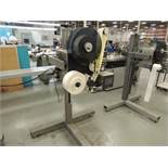 Label Aire Labeler, Model 3135-3500 On Roll-Away Base. S/N 0302530807