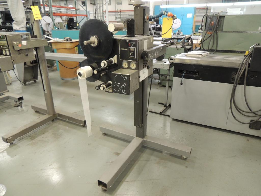 Lot 37 - Label Aire Labeler, Model 2111 on Roll-Away Base