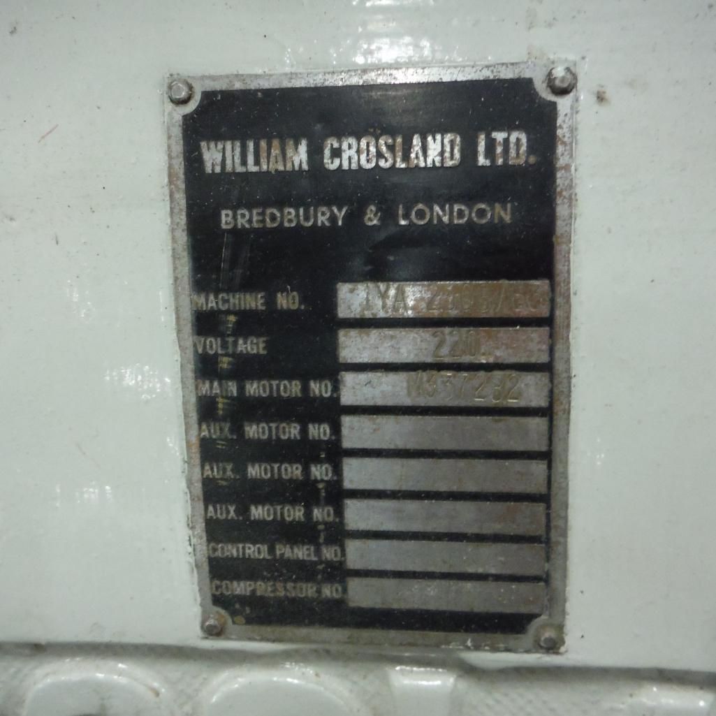 Lot 8 - Crossland Die Cutter Model 1YA, 32 in. x 42 in.
