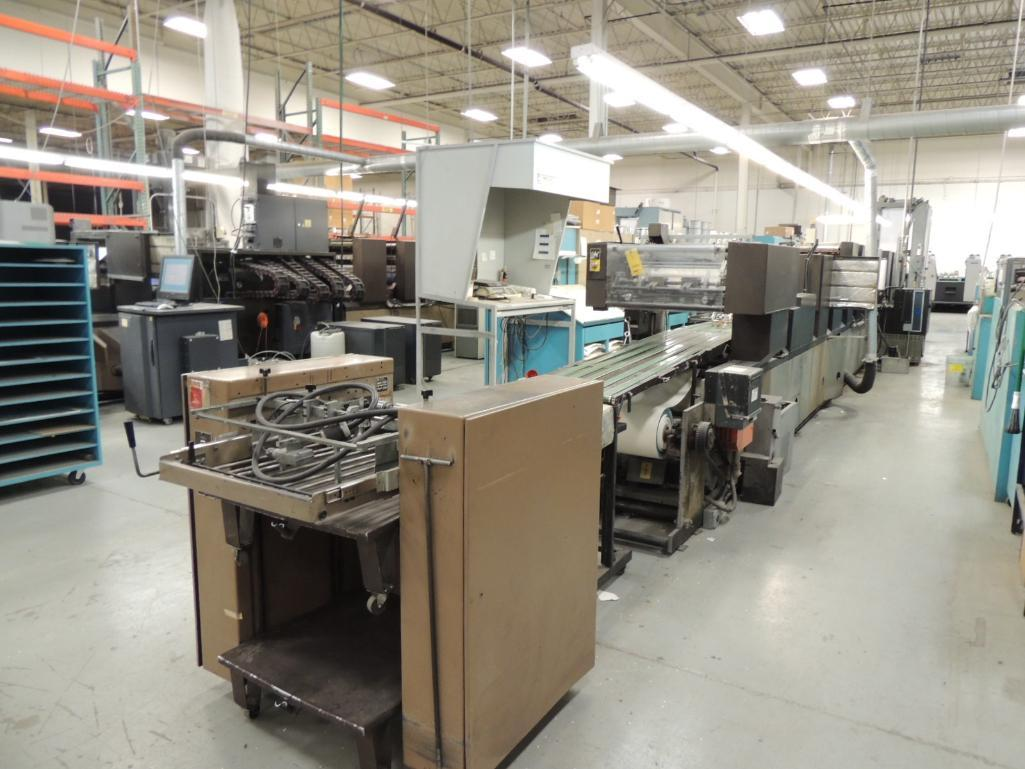 Lot 3 - Didde 860 Printing Offset Press, 8-Color, 18 in. Web Width x 22 in. Cutoff, Martin Automatic Roll Sp