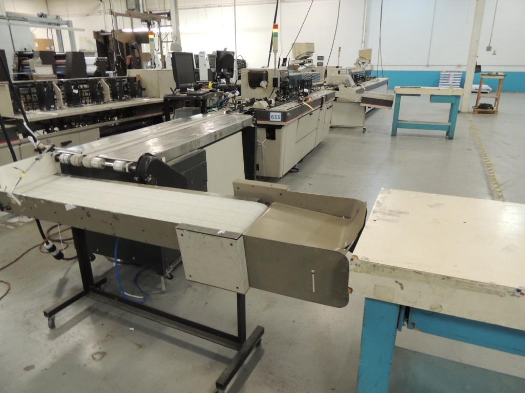 Lot 43 - Bell and Howell Mailstar 450- C6 Inserter, 6 Pocket, 6 in. x 12 in. Capacity, With Paragon Base/Conv