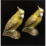 Two Royal Crown Derby paperweights, Citron Cockatoo (2)