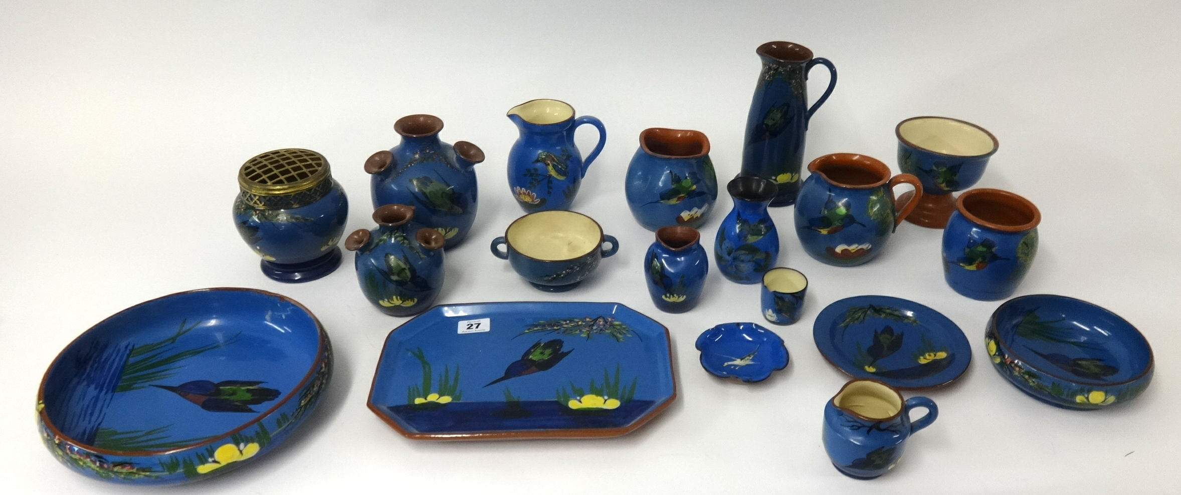 Lot 027 - A collection of Longpark and other Torquay ware.