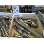 LOT - (2) LIVE CENTERS, LARGE BORING BAR, TAPER TOOLING