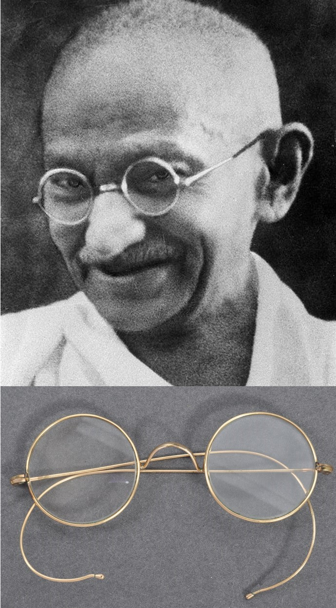 PAIR OF MATHATMA GANDHI'S PERSONAL SPECTACLES