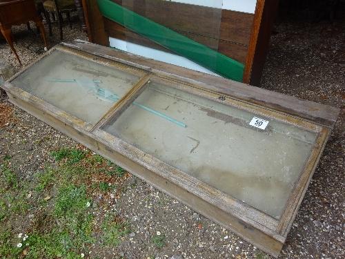 Lot 50 - Pine display cabinet