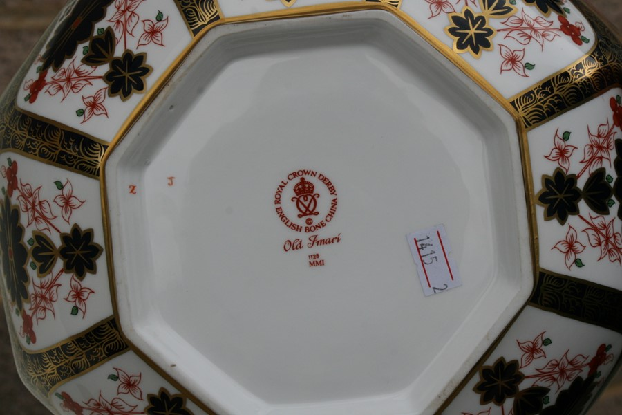 Lot 29 - A Royal Crown Derby Old Imari pattern octagonal bowl, 25cms (9.75ins) diameter.Condition Report Very