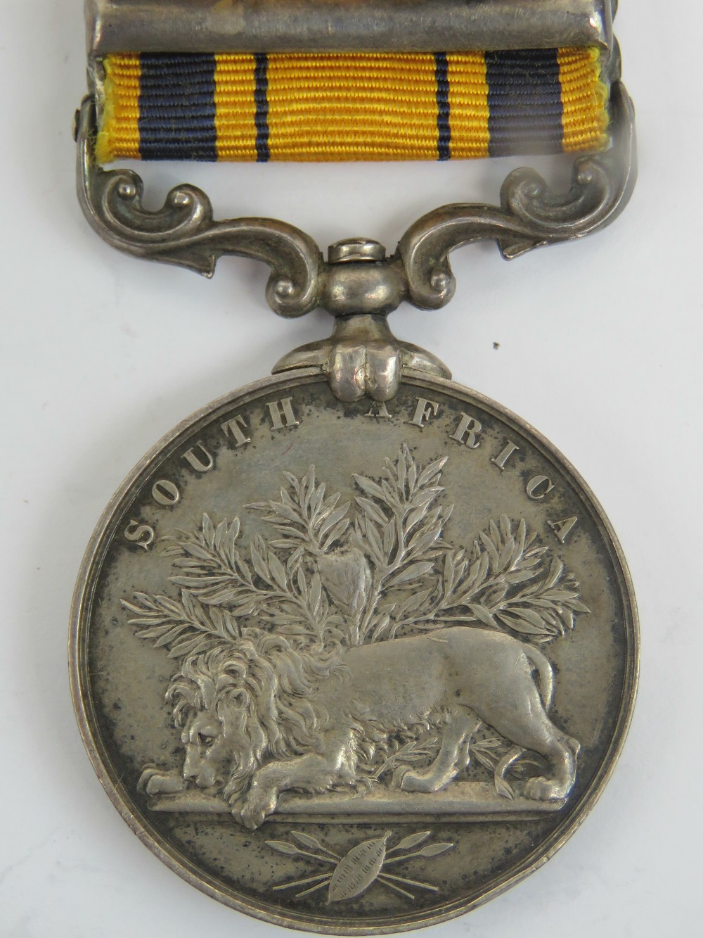 A South African Zulu war medal (1880) with ribbon and bar for 1879, - Image 2 of 5