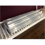 """Aluminum Extrusion Closet Door Track, 60"""""""