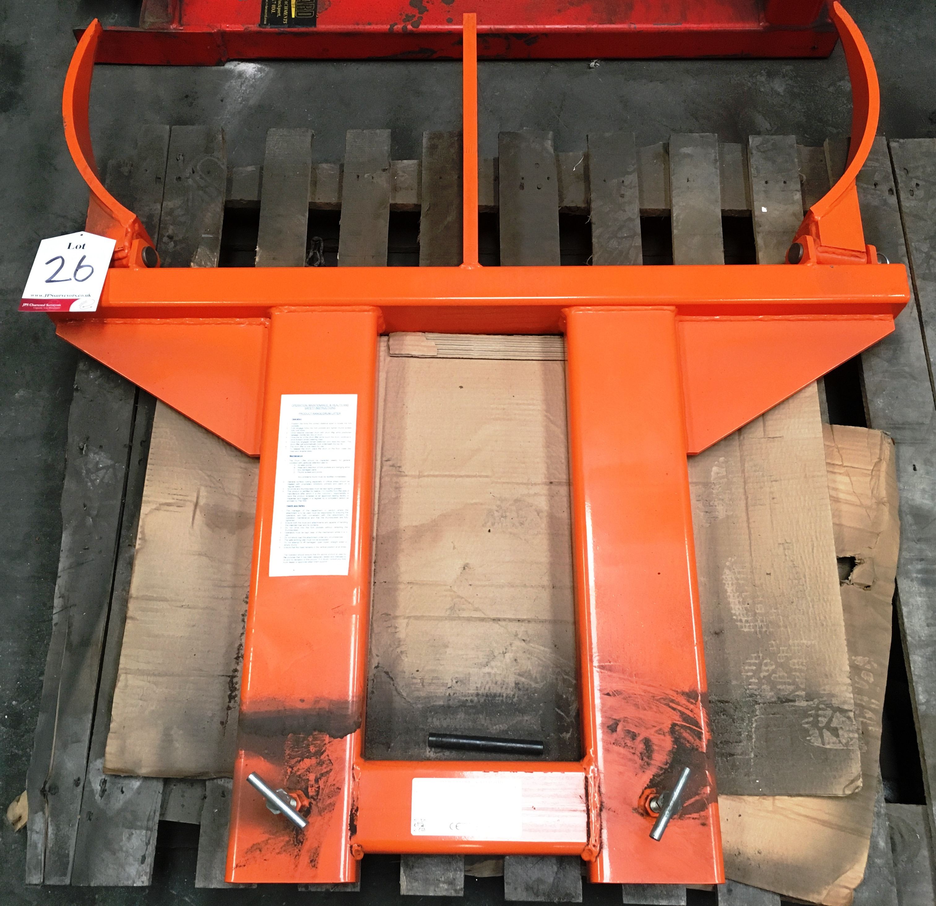 Lot 26 - Invicta IDL-2 Fork Mounted Dual Drum Lifter Attachment