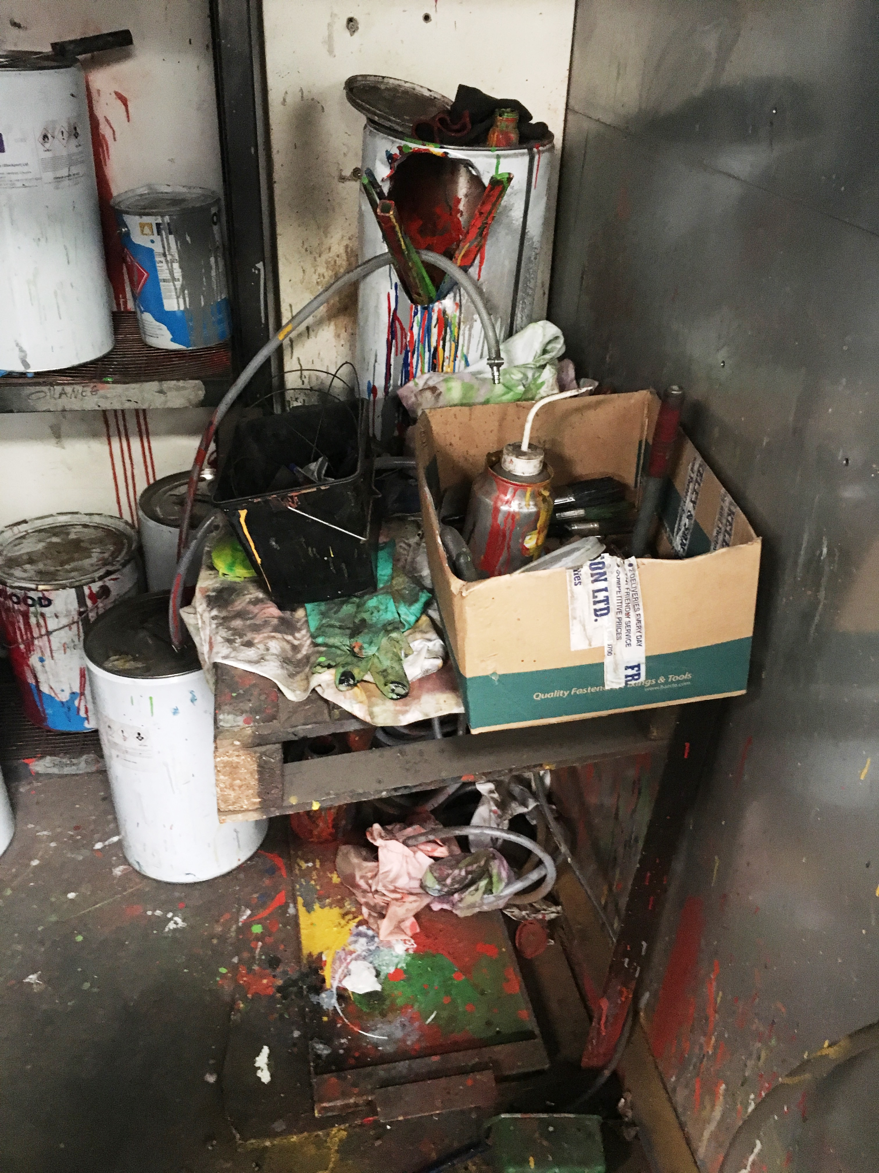 Lot 18 - Fabricated Metal Paint Store & Contents As Pictured