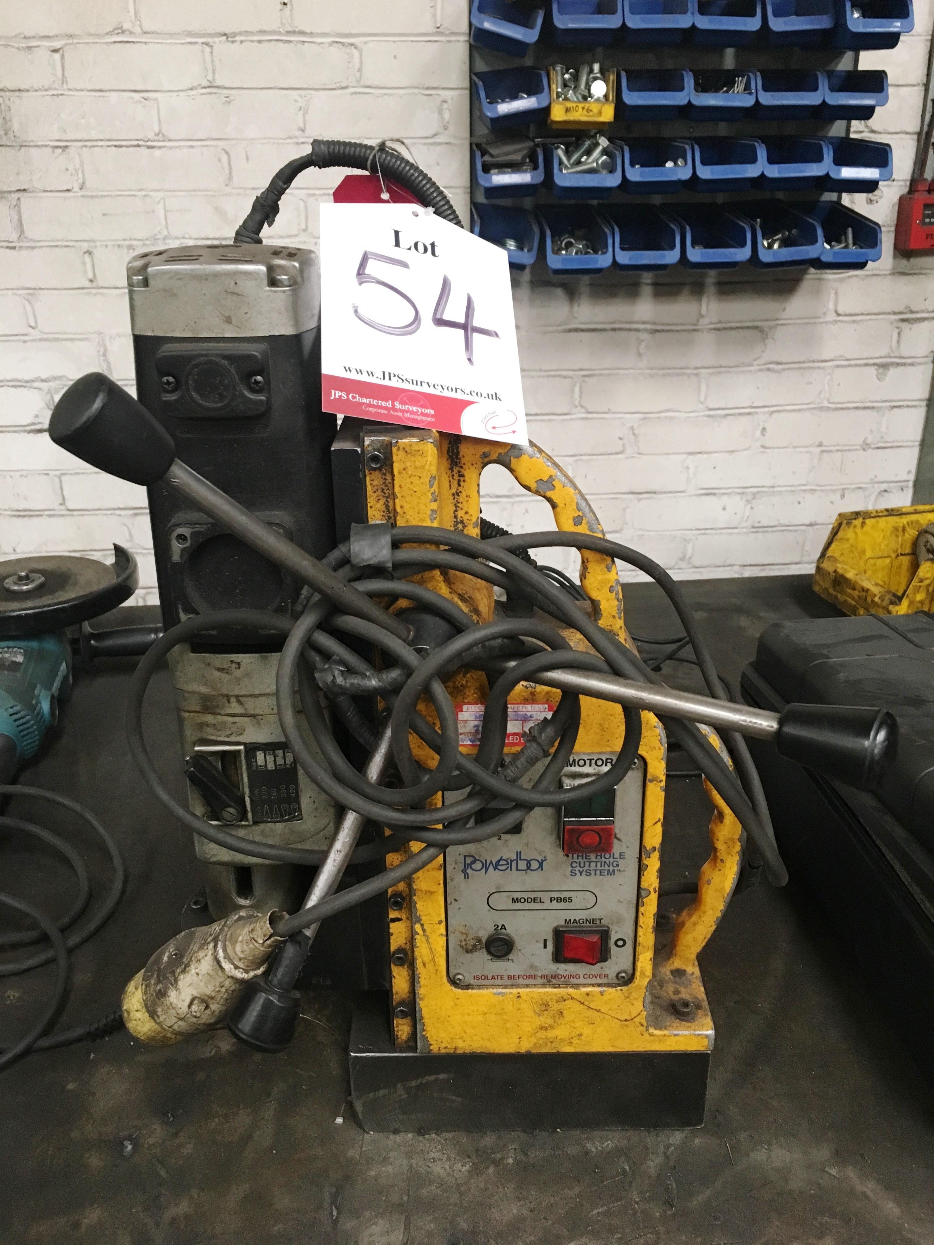 Lot 54 - Powerbor PB65 Magnetic Drill