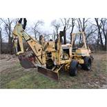 Vermeer V450 Trencher, parts machine, backhoe attachment, JD diesel, SN 1VRF082L2H1000460