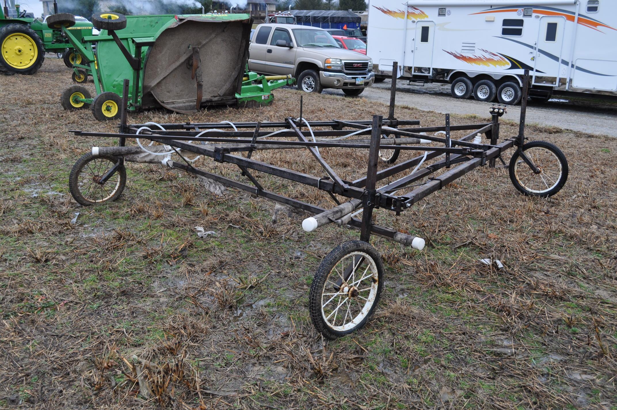 30' Quality Metal Works weed wiper cart, needs work - Image 3 of 11